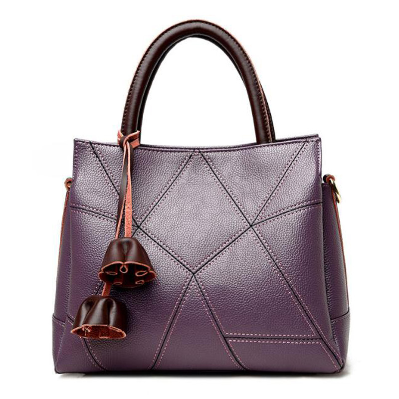 nuevas mujeres de la moda bolsos de la vendimia simple patrn de lichee de la pu de hombro de cuero mujer totes bucket bag