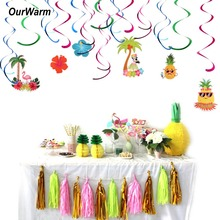 hot deal buy ourwarm hawaiian ceiling hanging swirl decorations baby shower cutout festive party supplies diy decorations event party