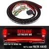 Waterproof 60 Flexible LED Light Strip Brake Tail Turn Signal Light Bar 5 Function Red White