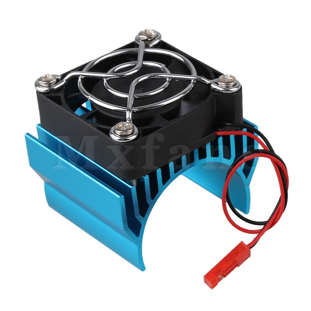 Mxfans Blue N10022 Aluminum <font><b>540</b></font> <font><b>Motor</b></font> Heatsink with Super Cooling <font><b>Fan</b></font> for RC 1:10 Car image