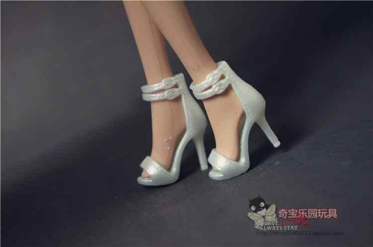 Toptan yeni çoklu topuklu sandalet düz ayakkabı renkli aksesuarları moda için orijinal durumda barbie bebek ayakkabı 1/6