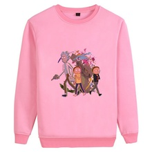 Cartoon Anime Hot TV Rick Morty Illustration Printed Mens Casual Fashion Sweatshirt Cotton Sweatsuit A193141