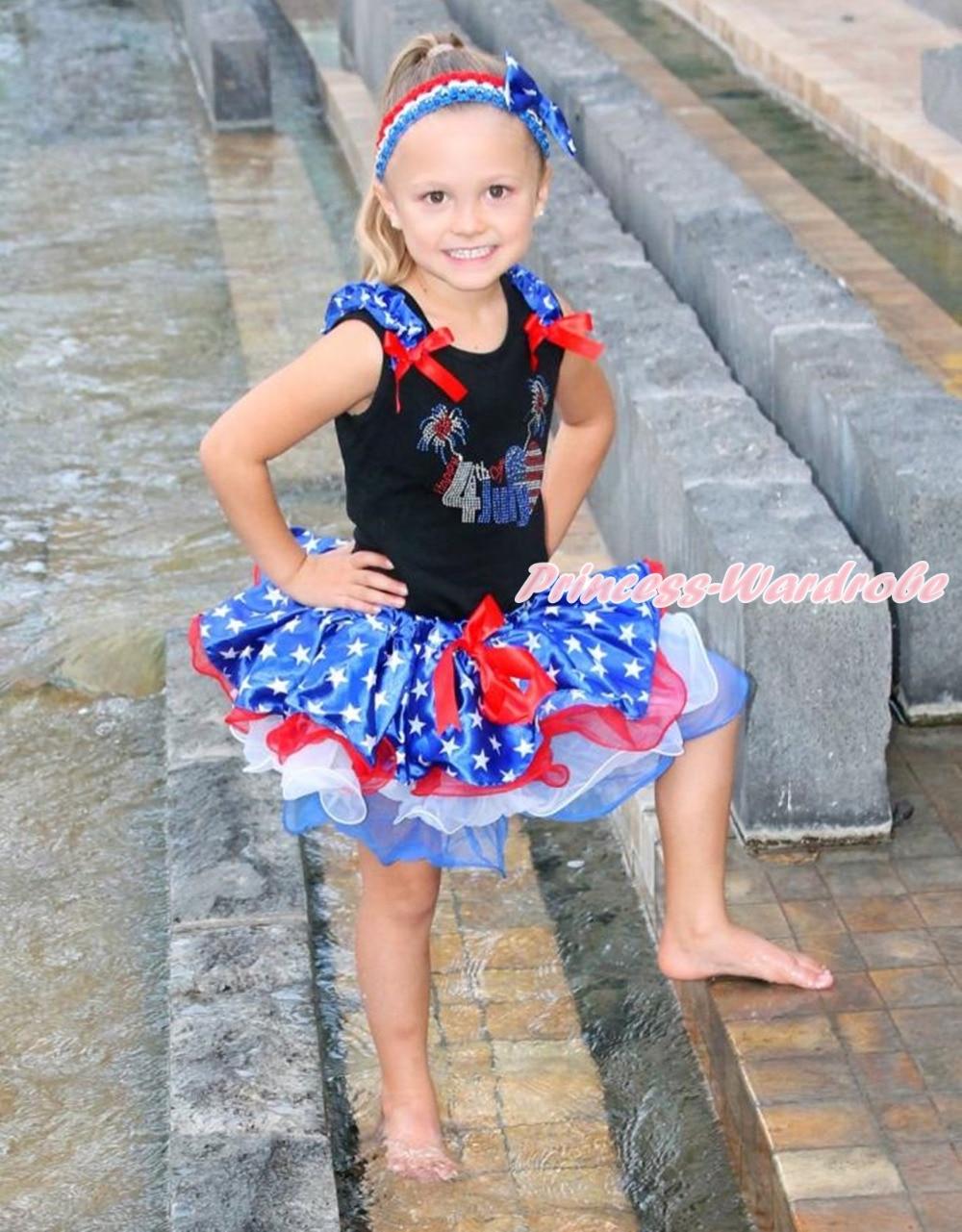 Rhinestone Happy 4th July Black Top Patriotic Star Red White Petal Skirt NB-8Y MAMH204 светильник потолочный sonex mortia 142