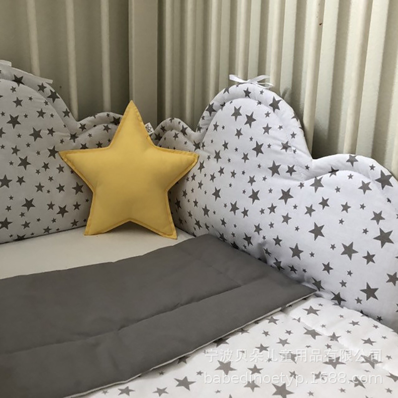 Baby Bed Bumper Cushion Crib Bumper Safety Protection Pad  Baby Crib Cloud Style Cartoon Around Cushion YBD017