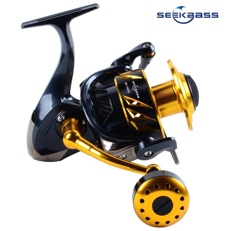 SEEKABSS New japanese made Saltist SK10000 Spinning Jigging Reel Spinning reel11+1BB FULL METAL REEL 30kgs drag power Surf REEL