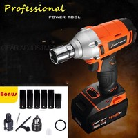 2018 Professional New 380N.m 1/2''cordless impact car wrench with Brushless motor Electric Impact Wrench Car Tyre Wheel Wrench
