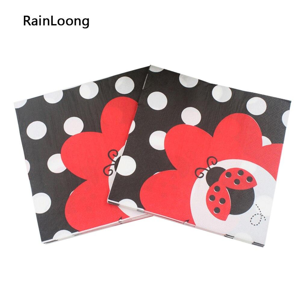 [Rainloong] del insecto del insecto festivo y fiesta de tejido servilleta de pap