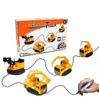 2017 Engineering Vehicles Mini Magic Toy Truck Children S Inductive Truck Toys Figure Tank Car Pen