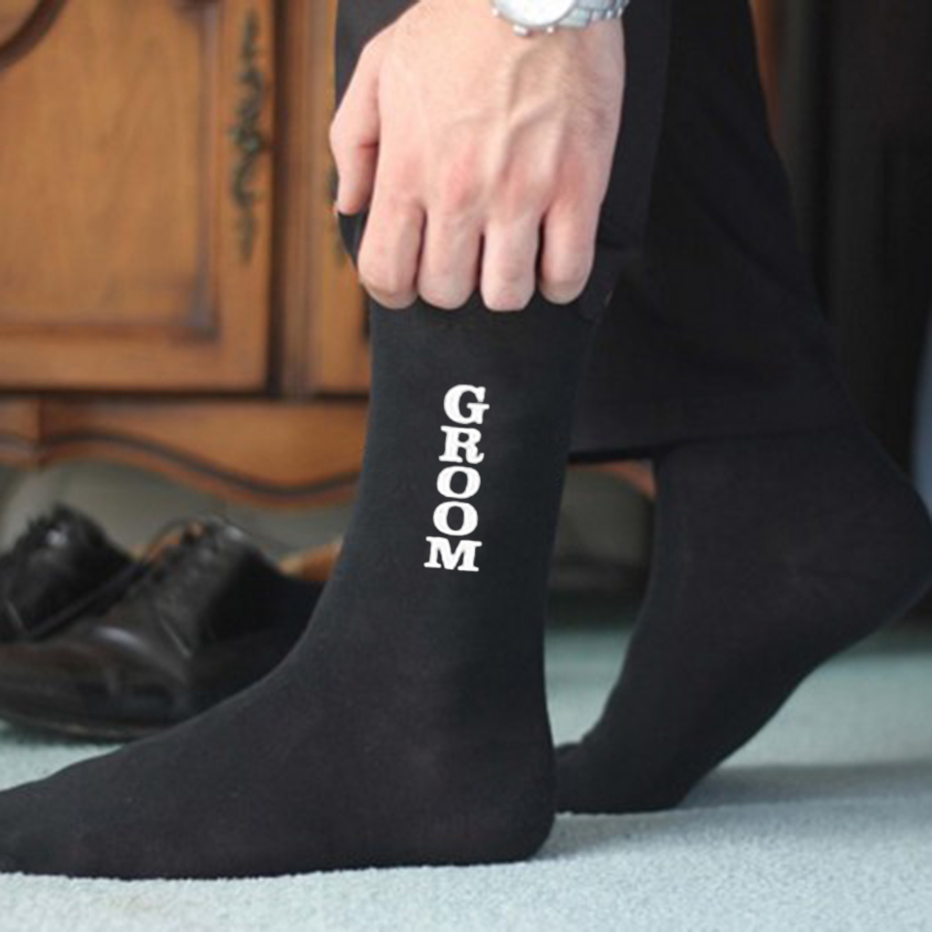 Flavor In Cheap Price 2019 Newwedding Letter Groom Best Men Ankle High Socks Funky Holiday Gift Short Socks Fragrant