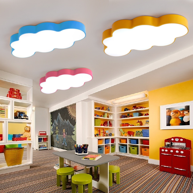 LED Cloud boys bedroom lights room children Baby ceiling lamp with ...