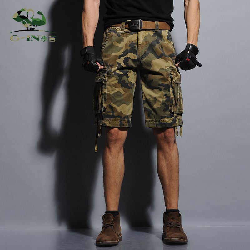 New 2016 Summer Army Cargo Shorts Mens Bermuda Fashion Short Loose Tooling Slacks Military Shorts