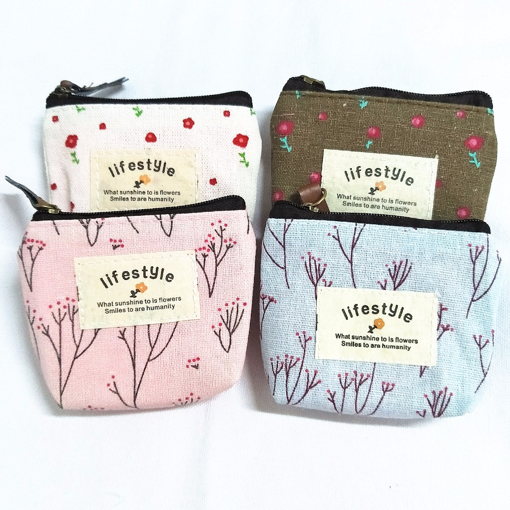 M032 Cute Creative Cartoon Small Fresh Flower Bag Headset Line Data Line Coin Purse Card Bag Girl  Women Student Gift Wholesale hot small fresh forest female wind pastoral floral mini small school bag cute school bags coin purse student coin purse