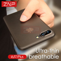 ZNP Matte Transparent Phone Case For iPhone 7 7 Plus 0.3mm Ultra Thin Cover Cases For iphone 7 Plus 7 Case Phone Bag Capa Coque