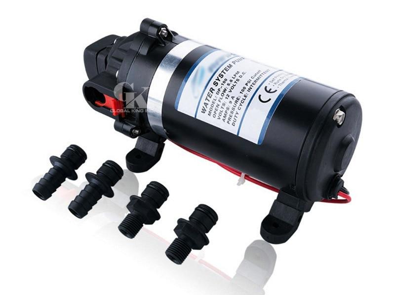 Pompe de brumisation haute pression DC 12 V pompe à membrane auto-amorçante 160PSI