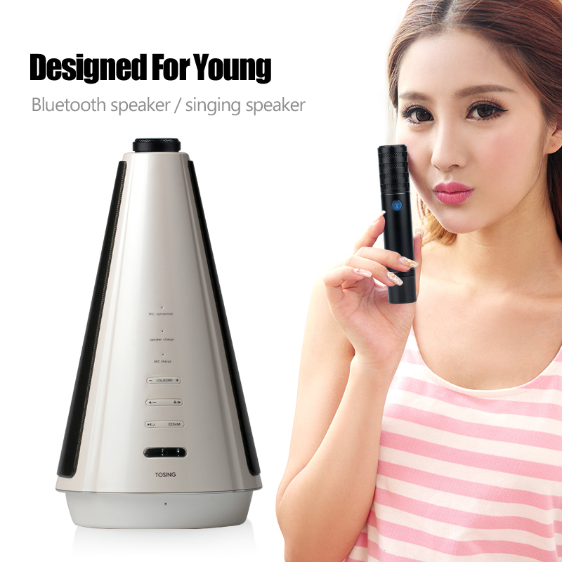 Tosing Mobile audio portable microphone wireless Bluetooth speaker