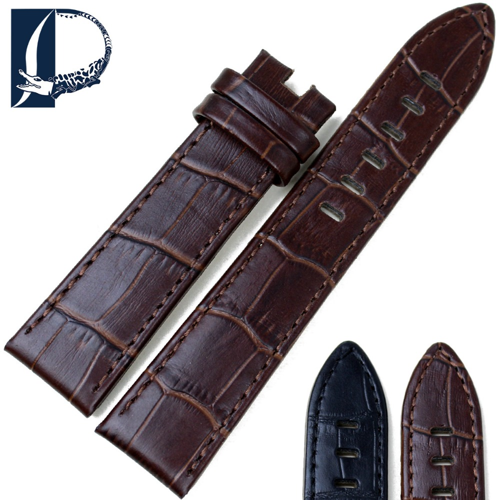 Pesno Kulit Asli Watch Band Black Brown Calf Leather Watch Strap 20mm 22mm Gelang Jam Cocok untuk Montblanc