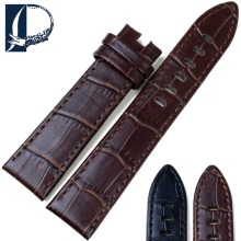 Pesno Genuine Leather Watch Band Black  Brown Calf Skin Watch Strap 20mm 22mm Watchband Suitable for Montblanc