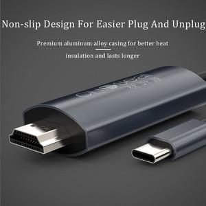 Image 5 - CHOSEAL タイプ C hdmi ケーブル 4K @ 60 60hz の Usb C HDMI ケーブルサンダーボルト 3 Macbook 銀河 s10/S9 Huawei 社メイト 20 P20 プロ