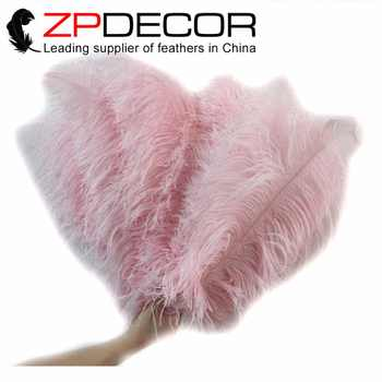 New Color! ZPDECOR 100 pieces/lot feathers 55-60cm(22-24inch)Dyed Pink Ostrich Feathers Drabs DIY for Carnival Decoration - DISCOUNT ITEM  5% OFF All Category