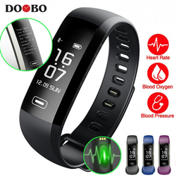 DOOBO M2 R5 Pro Smart WristBand Fitness Tracker Bracelet Heart Rate Blood Pressure Watch Pulse Meter Oxygen SMS Call Sport band
