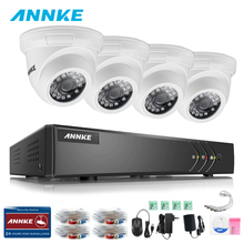 ANNKE 4CH CCTV System HDMI AHD TVI CCTV DVR 4PCS Smart IR Outdoor Security Camera 1.0MP Camera Surveillance System