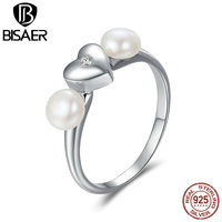 925 Sterling Silver Sweety Radiant Heart Clearly CZ Finger Rings For Women Fashion Authentic Original Jewelry