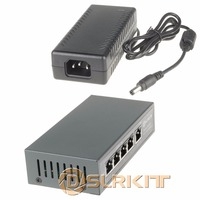DSLRKIT 5 Ports 4 PoE Injector Power Over Ethernet Switch 48V 96W