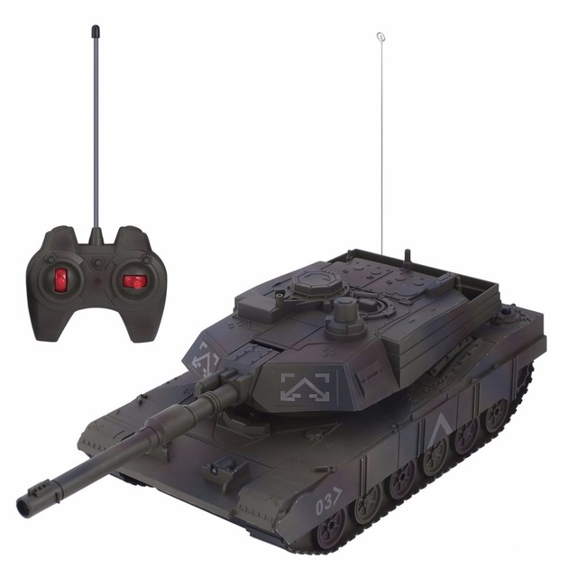 US $39 12 |1:14 4CH Simulation RC Military Tank Turret Rotation Light &  Music Remote Control Model Long Distance Control Kids Boy Toys Gift-in RC