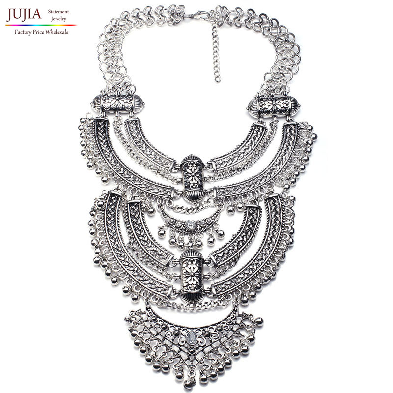 Wholesale very big metal chain 2016 NEW design chunky fashion Necklace statement maxi Necklace for women