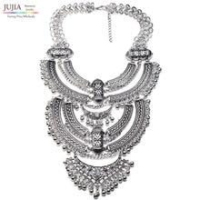 Comercio al por mayor muy grande cadena de metal 2016 NUEVO diseño maxi Collar de declaración de moda Collar grueso para las mujeres