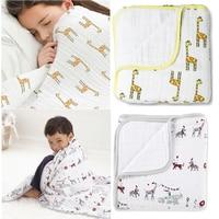 Aden Anais Newborn Thick 2 Layers Muslin Cotton Blanket Swaddleing Infant Cotton Bedding Sheet Muslin Travel