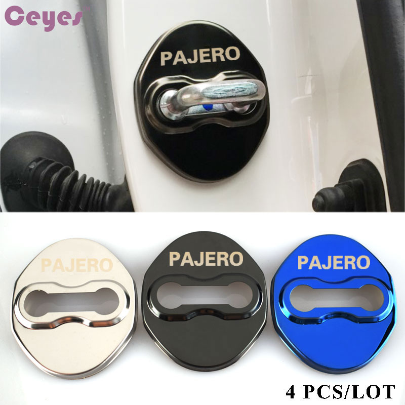 Ceyes Excellent Car Styling Case For Mitsubishi Pajero EX-Outlander Sport Auto Door Lock Decoration 2012 2013 2014 Car-Styling