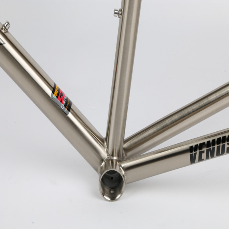 Top TSUNAMI 520 chrome-molybdenum steel Bicycle Frame Road Bike Frame + full carbon front Fork or steel Fork 2