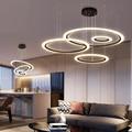 Современный светодиодный подвесной светильник  модное кольцо  круглый светодиодный подвесной светильник  освещение для гостиной  столовой...