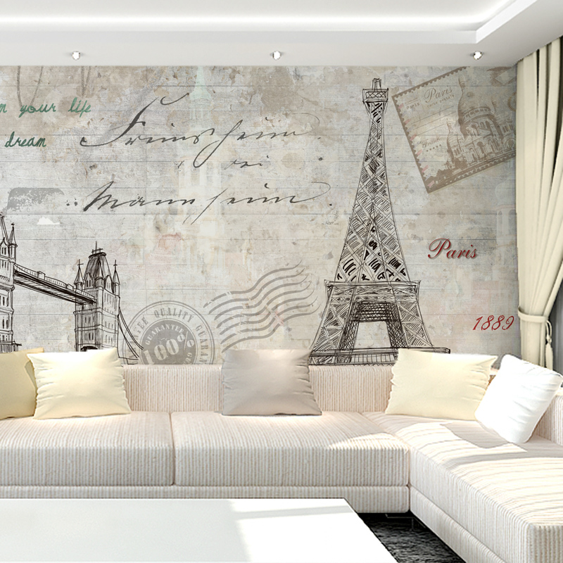 Free Shipping TV background wall mural wallpaper non woven 3D European bedroom  wallpaper Eiffel Tower. Popular Wallpapers Eiffel Tower Buy Cheap Wallpapers Eiffel Tower