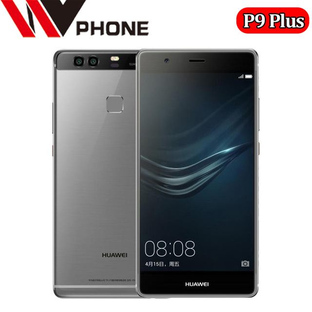 "WV HUAWEI P9 Plus 5.5"" Fingerprint 4GB RAM Smartphone Android 6.0 Kirin 955 Octa Core 64/128 GB ROM dual 12.0MP leica camera"