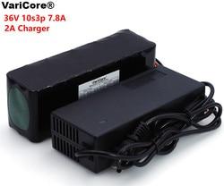 VariCore 36 V 7.8Ah 10S3P 18650 akumulator  zmodyfikowany rowery  pojazd elektryczny 36 V zabezpieczenie PCB + 2A ładowarka|Powerbanki|Elektronika użytkowa -