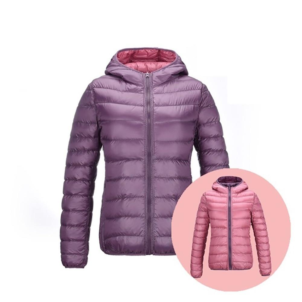 Down Jackets Women Warm Thin UltraLight 90% White Down Coats Women Feather Jackets Double Side Lightweight Brand Large Size Coat