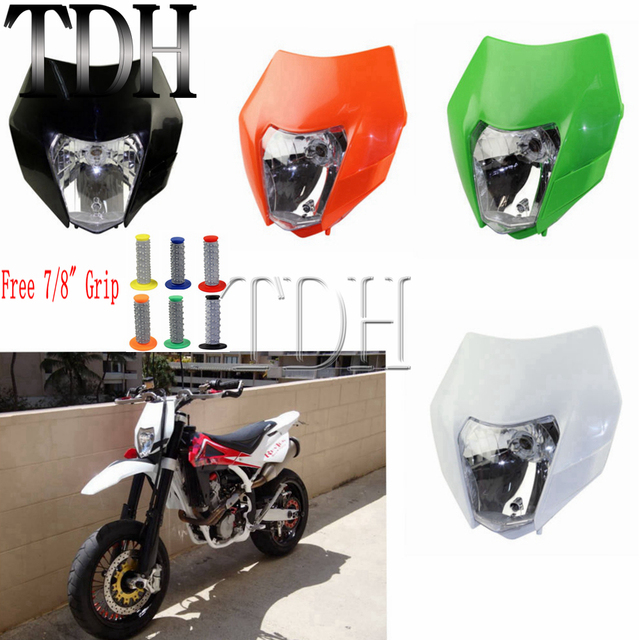 Ktm Dual Sport >> Us 14 23 5 Off Four Color Enduro Supermoto Motorcycle Headlight Mask Dual Sport Dirt Bike Off Road Street For Ktm Smr Ex Exc Xcw Yamaha On