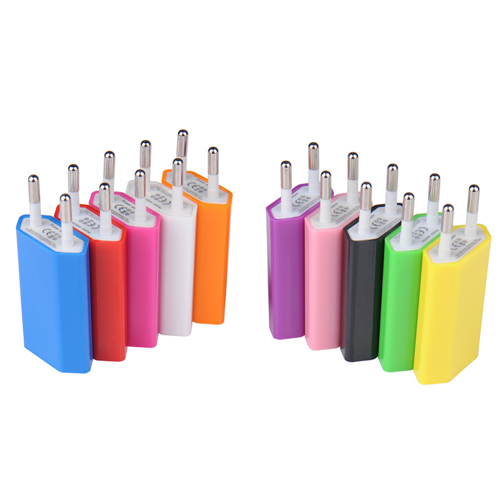 Hot Candy EU Plug USB Wall Charger Travel Home Wall AC Charger Adapter for iPhone 5s 6s 7 for Samsung S6 S7 Mobile Phone Charger