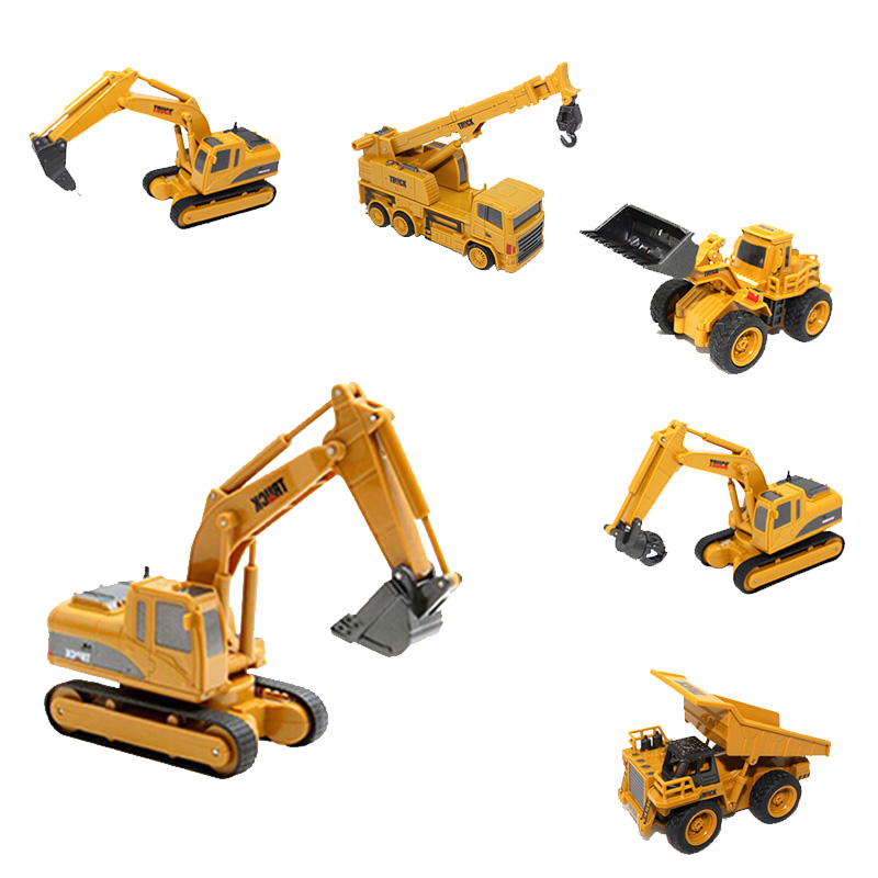 RC car 1:64 Remote Control Construction Car Mini Excavator Simulation Model Engineering Car Digger Toy Crane Bulldozer|RC Cars| | - AliExpress