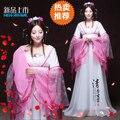 Nueva llegada hanfu dinastía tang traje de hadas ropa de estilo chino de las mujeres nacionales de la princesa desgaste princesse confección chinoise