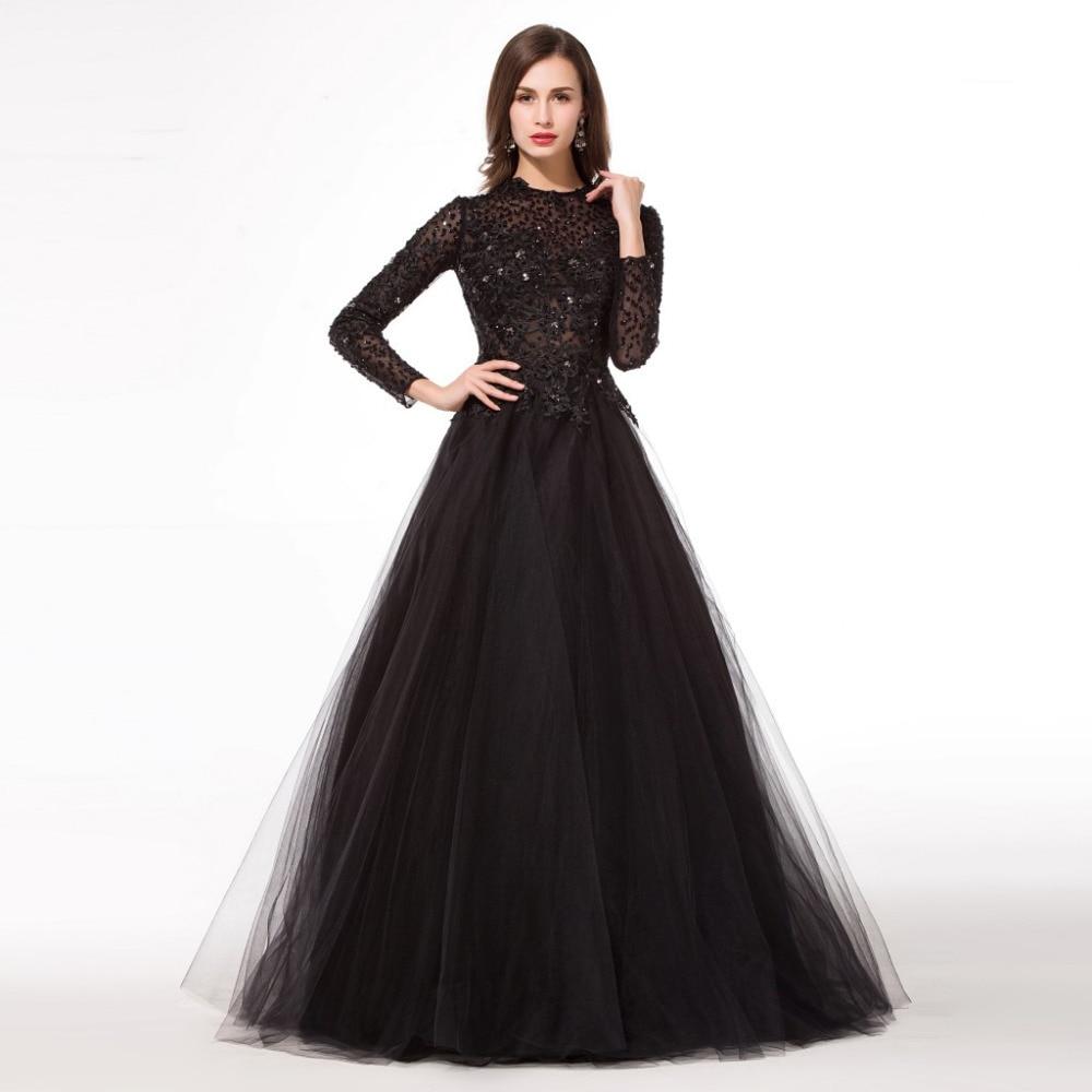 Popular Muslim Prom Dresses Black-Buy Cheap Muslim Prom Dresses ...