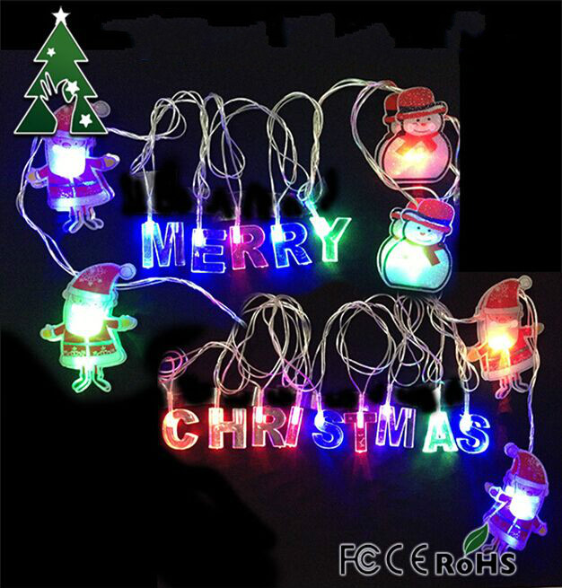 online shop merry christmas and santa claus fairy twinkle lights string lights 4 meters 20 pcs 3w set rgb fairy lights aliexpress mobile - Christmas Twinkle Lights