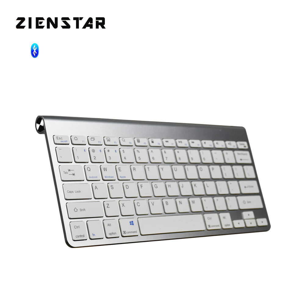 Zienstar Ultra Slim Wireless Bluetooth keyboard for Ipad,MACBOOK,LAPTOP,Computer PC and Android Tablet ,US English Layout lofree dot bluetooth mechanical keyboard wireless backlit round button for ipad iphone macbook pc computer android tablet