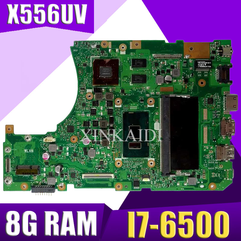 XinKaidi X556UV Laptop motherboard DDR4 8g RAM I7-6500 for ASUS X556UQ X556UV X556UB X556UR X556U mainboard X556UV motherboard image