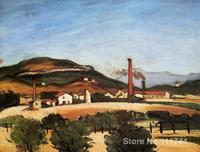 Landscape art impressionism Factories Near Mont de Cengle Paul Cezanne paintings reproduction High quality Hand painted