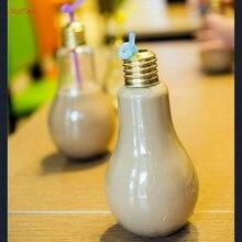 Light-Lamp Water-Bottle Milk-Juice Leak-Proof Cute Summer Fashion Brief Bulb Creative