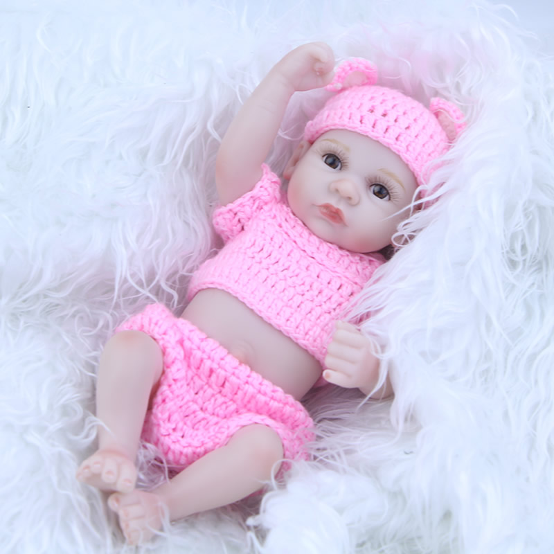 11 Inch Tiny Reborn Baby Doll Girl Body Full Silicone