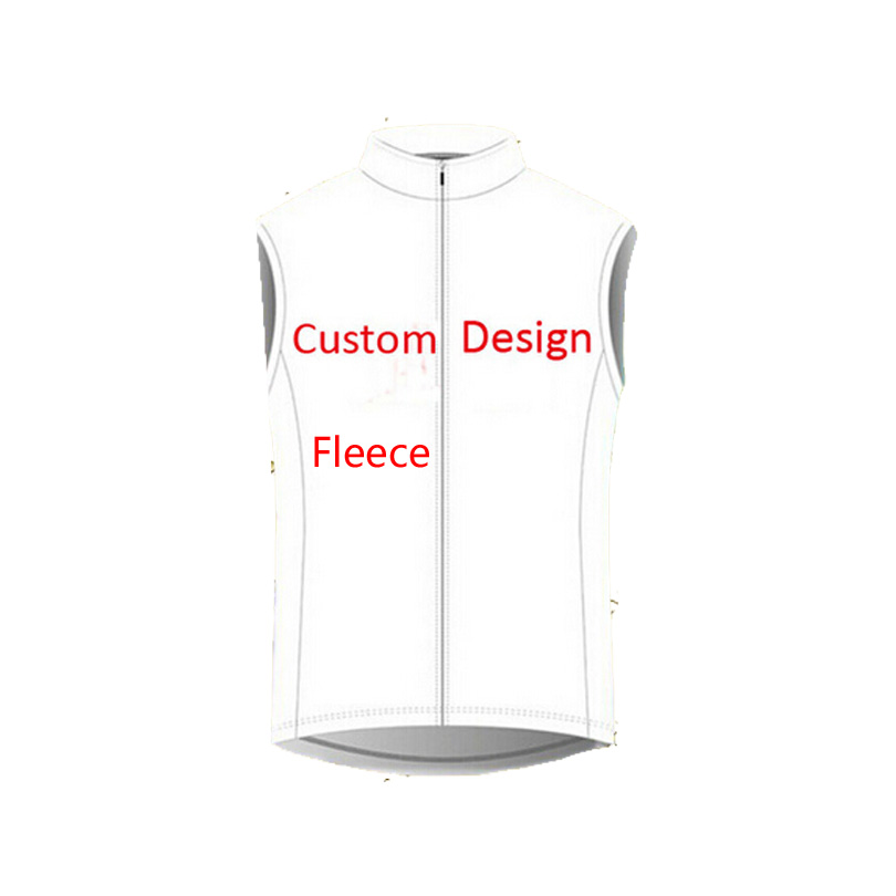 Custom Sleeveless Fleece Bicycle Jersey / Winter Thermal Wear Cycling Clothing Race Vest
